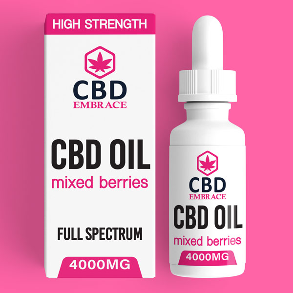 CBD Oil UK, Best CBD Oil UK, CBD Oil Mixed Berries 4000mg