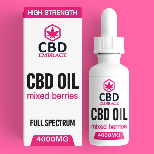 CBD Oil UK, Best CBD Oil UK, CBD Oil Mixed Berries 4000mg