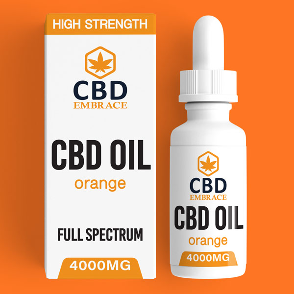 CBD Oil UK, Best CBD Oil UK, CBD Oil Orange 4000mg