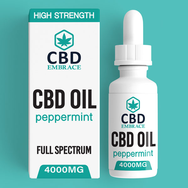 CBD Oil UK, Best CBD Oil UK, CBD Oil Peppermint 4000mg