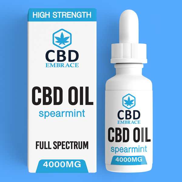 CBD Oil UK, Best CBD Oil UK, CBD Oil Spearmint 4000mg