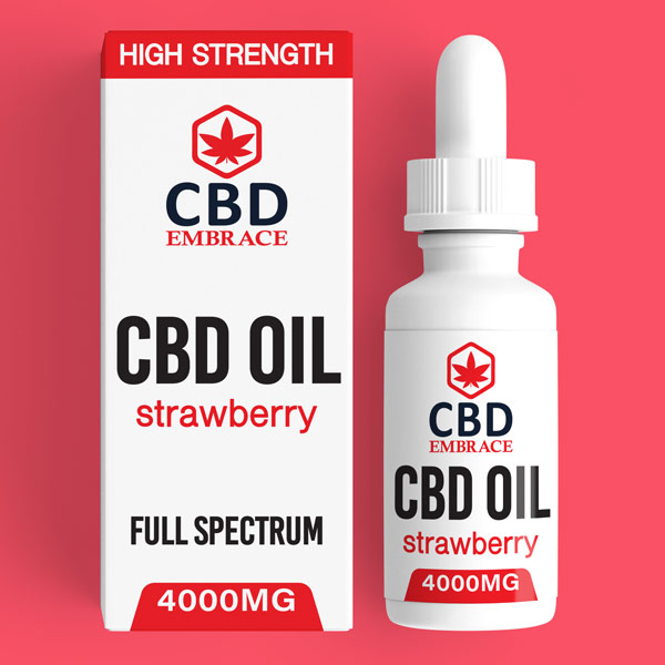 CBD Oil UK, Best CBD Oil UK, CBD Oil Strawberry 4000mg